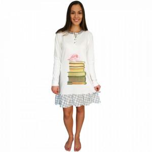 Nightwear Snelly L'Originale, 100% Cotton, 'Smart & Beauty' White