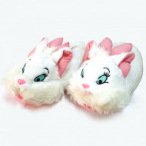 Papuci de Casa Caldurosi, Model Cute Bunnies, Culoare Alb, Papuci Interior
