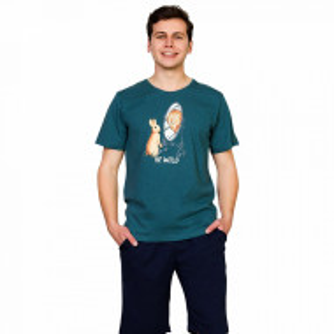 Pijama Barbati Gazzaz by Vienetta, 'Be Wild' Green