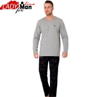 Pijama Barbati Maneca/Pantalon Lung, 'Fly High', M-M Nightwear