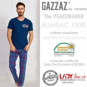 Pijama Barbati Maneca Scurta, Gazzaz by Vienetta, 'The Peacemaker'
