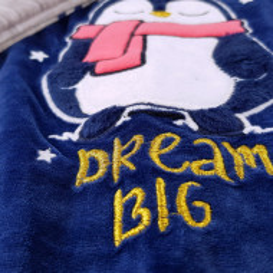 Pijama Dama Soft Velur, Vienetta, 'Dream Big' Blue