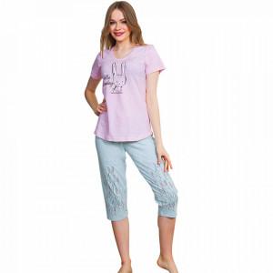 Pijama Dama Vienetta Bumbac 100%, 'Hello Monday'