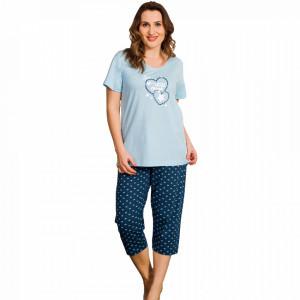 Pijama Dama Vienetta, Bumbac 100%, Model Little Things Blue