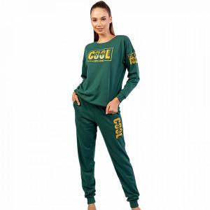 Pijama Vatuita din Bumbac Dama, Vienetta Model 'Just Be Cool'