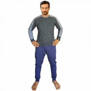 Pijamale Barbati Bumbac 100%, Brand Charachter, 'Granite Leader' Blu Jeans