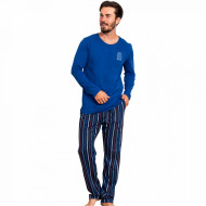 Pijamale Barbati Bumbac 100% Gazzaz by Vienetta 'Relax' Blue