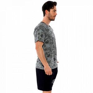 Pijamale Barbati Pantalon Scurt Gazzaz by Vienetta Model 'No Signal'