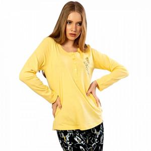 Pijamale Confortabile Dama din Bumbac Vienetta Model 'Butterfly Fantasy'