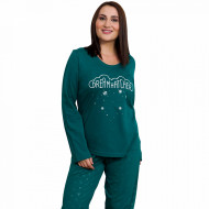 Pijamale Dama din Bumbac Marimi Mari Vienetta Model 'Dream Hatcher'