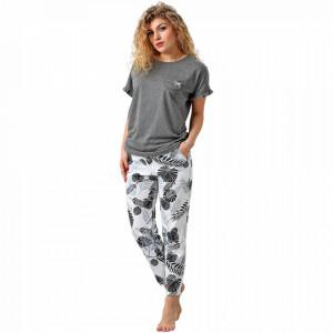 Pijamale Dama M-Max, Bumbac 100%, 'Nature Line'
