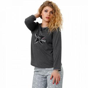 Pijamale Dama M-Max, Bumbac 100%, 'Vrai Bonheur'