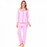Pijamale Dama Maneca si Pantalon Lung Model 'Pink Angel'