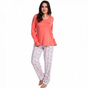 Pijamale Dama Marimi Mari Vienetta, Bumbac 100%, 'Beauty Love'