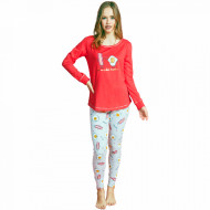 Pijamale Dama Vienetta Dream, 'Eggcellent - Better Togeter' Red