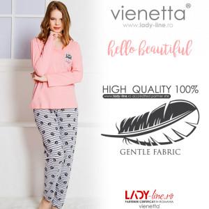 Pijamale Dama Vienetta 'Hello Beautiful'