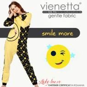 Salopeta Dama Vienetta din Bumbac 100% 'Smile More'