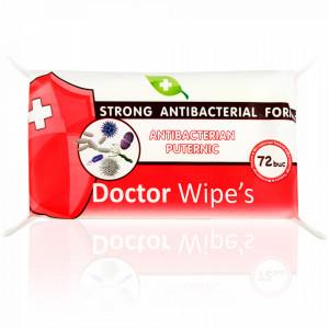 Servetele Maini Antibacteriene Puternice cu Alcool si Chlorhexidine Doctor Wipe's 72 Buc