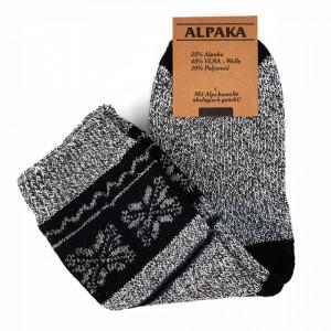 Sosete Calduroase din Lana de Oaie Naturala si Alpaka 'Winter' Light Gray