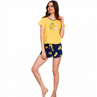 Pijamale Dama Vienetta Bumbac 100%, 'Lemon Girl Power'