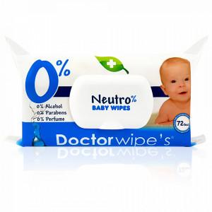 Servetele Umede fara Parabeni Neutro 0% Baby Doctor Wipe's 72 Buc