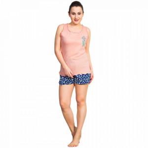 Pijama Dama Vienetta, Bumbac 100%, 'Love Yourself' Pink