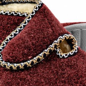 Ghete din Lana pentru Interior si Exterior Culoare Visiniu, Model 'Bucovina Style'
