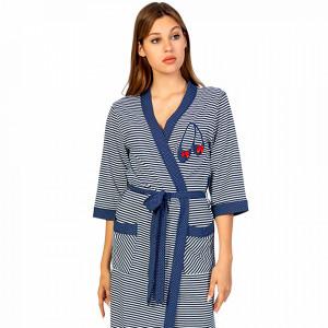 Halate de Dama Confortabile din Bumbac 100% Vienetta Model 'Marina Supple'
