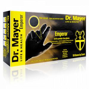Manusi Examinare Texturate Dr. Mayer Emperor, Black Edition, Cutie 50 Bucati