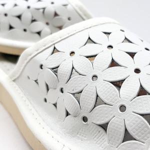 Papuci de Casa Dama, Material Piele, Culoare Visiniu, Model 'Flawors Patrol' White