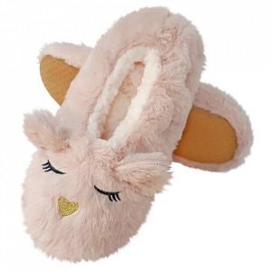 Papuci de Casa Tip Saboti, 'Sleeping Kitty' Dusty