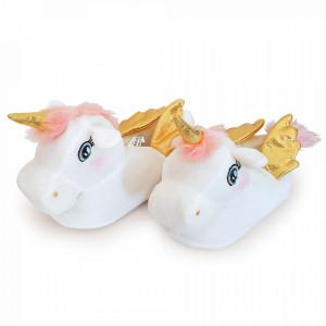 Papuci Interior cu Unicorni 'Golden Unicorns'