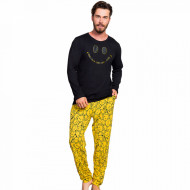 Pijama Barbati Bumbac 100% Gazzaz by Vienetta 'Keep Calm - Stay Cool'