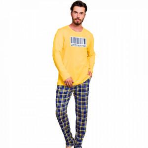 Pijama Barbati Bumbac 100% Gazzaz by Vienetta 'Limited Edition' Yellow
