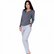 Pijama Dama Bumbac, M-Max, Model 'Spirit of Gray'