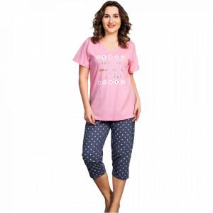 Pijama Dama din Bumbac, Vienetta, Model Feels So Good