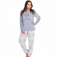 Pijama Dama Soft Velur Vienetta Model 'Waking up Slowly' Gray