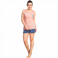 Pijama Dama Vienetta, Bumbac 100%, 'Love Yourself' Pink