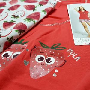 Pijama Dama Vienetta, 'Hola Summer' Red