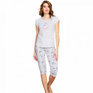 Pijama Dama Vienetta Kittens 'Meow' Gray