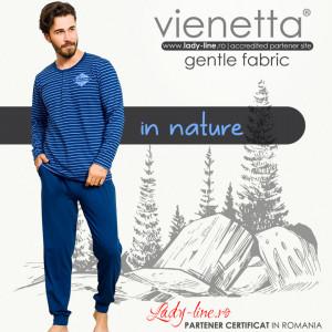 Pijamale Barbati din Bumbac 100% Gazzaz by Vienetta Model 'In Nature'