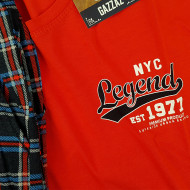 Pijamale Barbati din Bumbac 100% Gazzaz by Vienetta Model 'Legend 1977 Premium Product' Red