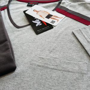 Pijamale Barbati M-Max, Bumbac 100%, 'Athlete' Gray