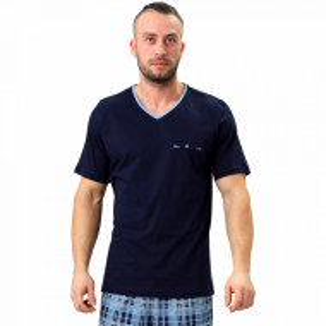 Pijamale Barbati M-Max, Bumbac 100%, 'Legendary Blue'