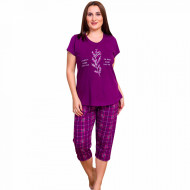 Pijamale Confortabile Marimi Mari Vienetta Model 'Feeling Good' Purple