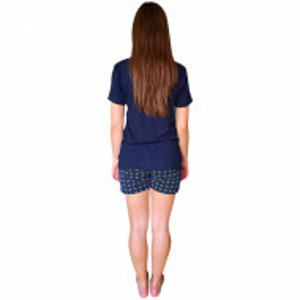 Pijamale Dama Bumbac 100%, Character, Model Still Remember Blu Scuro