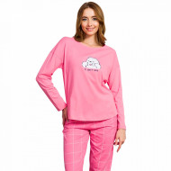 Pijamale Dama din Bumbac Vienetta Model 'I Don't Care'