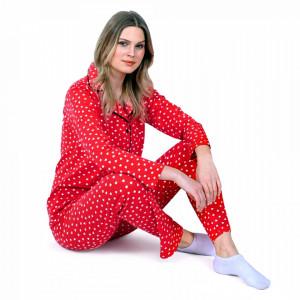 Pijamale Dama Maneca si Pantalon Lung Model 'Hot and Classic'