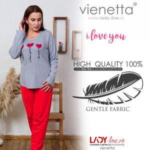 Pijamale Dama Marimi Mari Vienetta Model 'I Love You'
