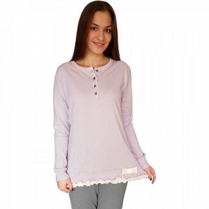 Pijamale Dama Snelly L'Originale, Bumbac 100%, 'Spring Of Lilac'